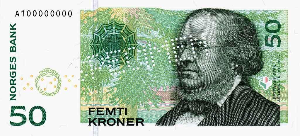 Norwegian krone symbol
